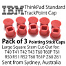 3x IBM ThinkPad Trackpoint Pointing Pointer Mouse Stick Rubber Cap T40 T60 T61 R