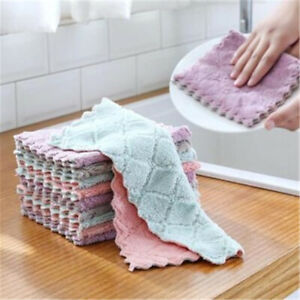10pcs Towels - Dishcloths Microfiber Cleaning Cloth Kitchen Cloth Dish Towel