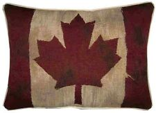 Canada Canadian Vintage Style Flag Oblong Woven Tapestry Cushion Cover