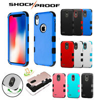 For Apple iPhone XS MAX Impact TUFF HYBRID Armor Rubber Rugged Phone Case Cover
