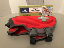 Red Top Paw Medium 27 In 30-55 lbs Dog Dogs Life Vest Jacket Boating Swiming