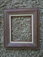 "Gorgeous Mid Century Modern Vintage White Washed Oak Wood 8"" x 10"" Picture Frame"