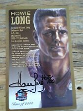 HOWIE LONG SIGNED AUTO PRO FOOTBALL HALL OF FAME POSTCARD RAIDERS