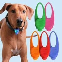 Pet Cat Dog Puppy LED Flashing Collar Tag Clip Buckle Pendant Night Light T1Y5