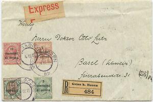 Italien R Brief Gries bei Bozen Mailand Basel Schweiz 1919