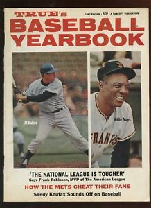 1967 True's Baseball Yearbook With Willie Mays & Al Kaline Front Cover EX