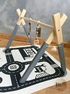 Handmade Wooden Baby Gym/ Play Gym/ Baby Centre in Grey