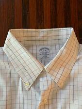 Mens Brooks Brothers Slim Non Iron Button Up LS Dress Shirt Size 17-35