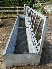 15ft Cattle feed barrier with Trough, Excellent Condition,  Galvanised