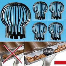 2 - 10 Stück Fallrohrschutz Laubschutz Regenrohrschutz Dachrinnenschutz Laubstop