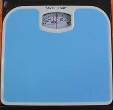 Easy Read Blue Scale Mechanical Personal Bathroom Weight Body Health Fitness Fat