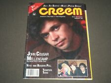 1986 FEBRUARY CREEM MAGAZINE - MUSIC - JOHN COUGAR MELLENCAMP COVER - K 1352