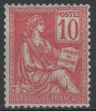 "FRANCE STAMP TIMBRE N° 116 "" MOUCHON 10c ROUGE TYPE II "" NEUF xx LUXE  M551"