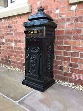 METZ Large Black Letter Box Post Box Mail Letterbox Drop Tall Free standing