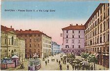 SAVONA - PIAZZA GIULIO II E VIA LUIGI CORSI 1920