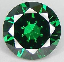 12mm ronda-faceta Color Verde Esmeralda Cubic Zirconia Piedras Preciosas £ 1 Nr!