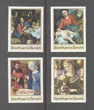 Burundi 1967 Christmas - Religious Paintings, SG 333-336, MVLH, lovely condition