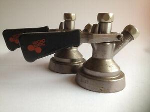 Micro Matic Vintage SK 184.04 beer keg metal tap handle black x 2