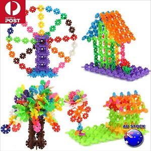 Children Kids Plastic Snowflake DIY Building Blocks Educational Puzzle Toy Gifts