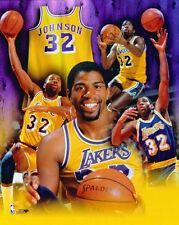 Magic Johnson LEGEND L.A. Lakers Career Commemorative Premium NBA POSTER Print
