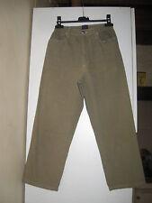 TBS - pantalon à taille haute élastique - kaki reflets mordorés - 40 fb55a5db884