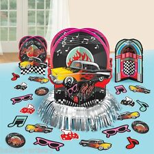 Classic 50's 1950's Diner Rock & Roll Car Party Table Decoration Kit 50s