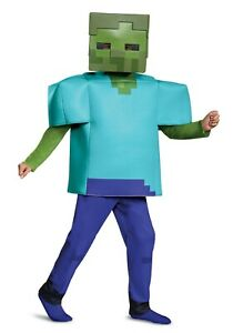 Kids Minecraft Deluxe Zombie Costume Size S (with defect)