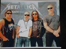 Metallica Group signed photo 8 x 10