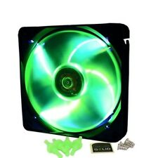 VENTOLA PWM VERDE con LED BIANCHI per CASE PC 120mm GELID FAN 12 120 25 UV 12cm
