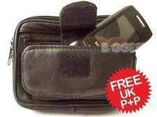 NEW Mens Leather Belt/Wrist BAG WALLET by Lorenz Camera Handy Pockets