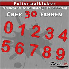 Z1- H: 3,40cm / Ziffern Zahlen Aufkleber 0-9 - Schild/Briefkasten/Nummern/Preis