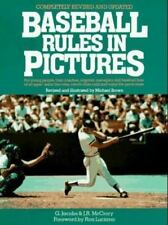 Baseball Rules in Pictures by J. R. McCory and G. Walker Jacobs 1990, Paperback
