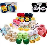 Anti-slip Socks Cartoon Newborn Slipper Shoes Boots Baby Girl Boy  0-24 Months