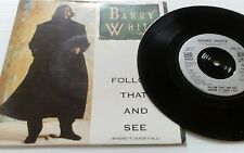 "BARRY WHITE Follow That And See 7"" VINYL UK A&M 1989 B/W Instrumental (Usa670)"