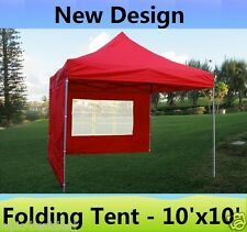 10' x 10' Pop Up Canopy Party Tent Gazebo EZ - Red - E Model
