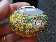 Halcyon Days Enamels A Year to Remember 2001 Boxed COA