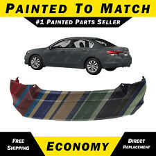 NEW Painted To Match- Rear Bumper Cover Replacement 2008-2012 Honda Accord Sedan