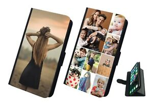PERSONALISED Photo Flip iPhone Samsung And Huawei Case Cover Customised Image