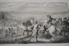 LOUIS XIV PASSAGE DU RHIN 1672 GRAVURE 1838 VERSAILLES R2139