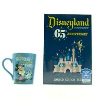 Funko Disneyland Resort 65th Anniversary Limited Edition Mug & T Shirt SZ Medium