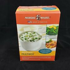 New listing Nordic Ware Multipot Microwave Cookware Pot W/Reversible Strainer Lid-6 Cup-New!