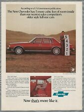 1977 CHEVROLET CAPRICE CLASSIC advertisement, Chevy Caprice 5 feet more