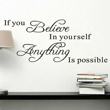 Removable Wall Stickers Vinyl Art Quote Bedroom Mural Room Home Decoration DIY