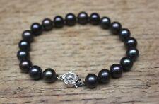 ZENZHU fine freshwater pearl bracelet sterling silver rose clasp BNIB