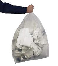 "100 X Heavy Duty Clear Bin Bag Liner Waste Refuse Sacks 150l Capacity 20x34x44"""