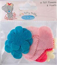 Felt Flowers and Hearts  Assortment (16/pkg)