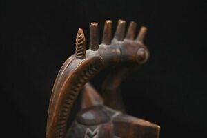 Tres belle statuette africaine  oiseau calao senoufo