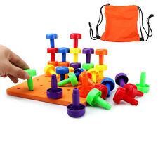 30PCS Peg Board Set Montessori Occupational Fine Motor Toy for Toddlers Pegboard