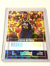 2017-18 Contenders Cracked Ice DONOVAN MITCHELL #/25 Rookie of The Year Non Auto