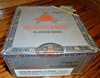 Montecristo Platinum Series Rothchilde Tube EMPTY Silver-Tone Cigar Box      101